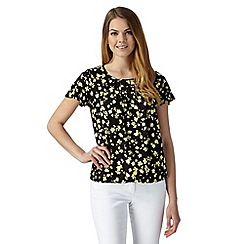 The Collection Petite - Petite yellow confetti pleated bubble hem top