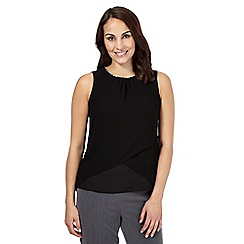 The Collection Petite - Black sleeveless wrap detail petite top