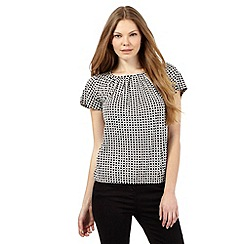 The Collection Petite - Geometric bubble hem top