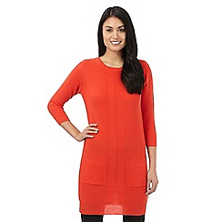 The Collection Petite - Orange ribbed tunic
