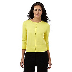 The Collection Petite - Yellow crew neck cardigan