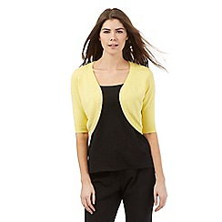 The Collection - Yellow basic open petite shrug