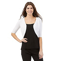 The Collection Petite - White basic open petite shrug