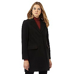 The Collection Petite - Black single breasted coat