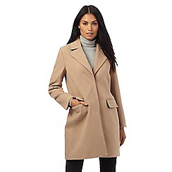 The Collection Petite - Camel single breasted coat