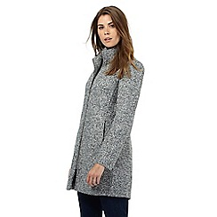The Collection Petite - Grey boucle petite coat
