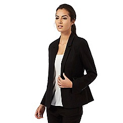The Collection Petite - Black zip pocket suit jacket