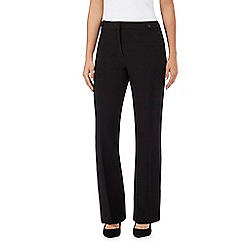 The Collection Petite - Black bootcut petite trousers