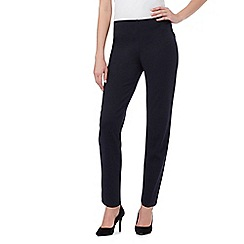 The Collection Petite - Navy ponte trousers