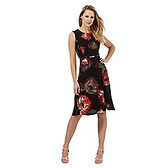 The Collection - Black poppy print dress