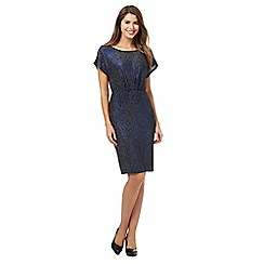 The Collection Petite - Blue glitter jersey petite dress
