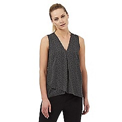 The Collection Petite - Black spotted print sleeveless petite top