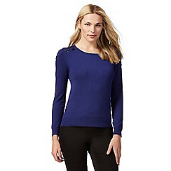 The Collection Petite - Bright blue bead embellished petite jumper