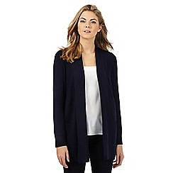 The Collection Petite - Navy ribbed petite cardigan