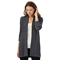 The Collection Petite - Grey ribbed petite cardigan