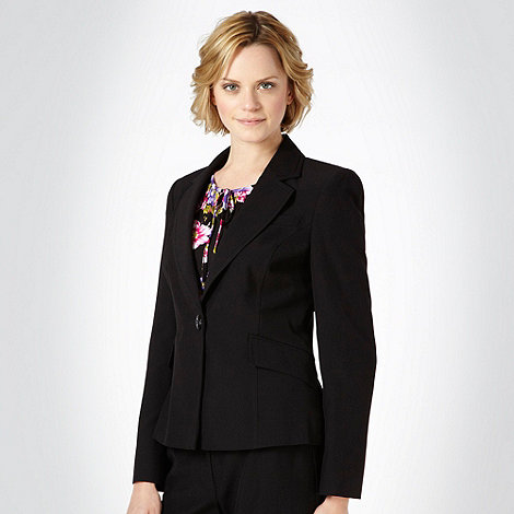 The Collection Petite - Petite black stab stitched lightweight suit jacket