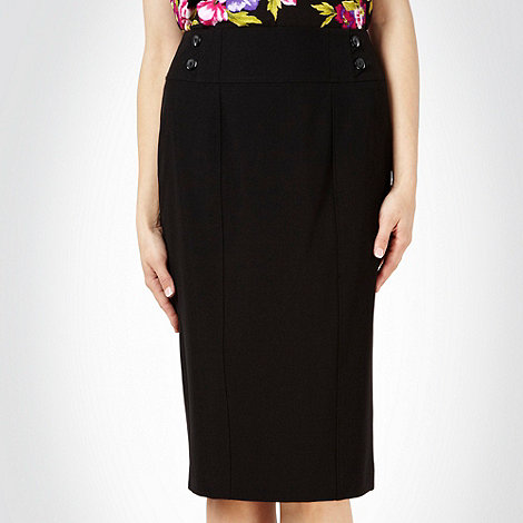 The Collection Petite - Black essential petite suit skirt