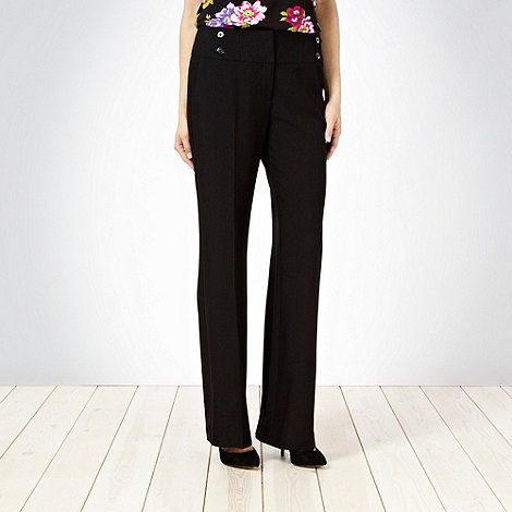 The Collection Petite - Black essential petite suit trousers