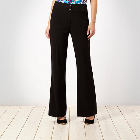The Collection Petite - Petite black bootcut formal trousers