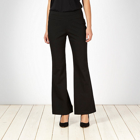 The Collection Petite - Petite black ponte trousers - size 10P