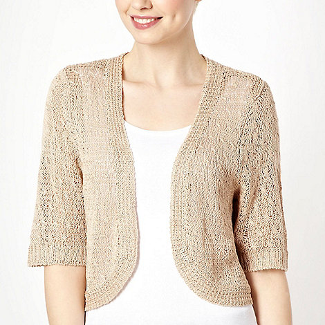 The Collection Petite - Petite natural corded knit shrug