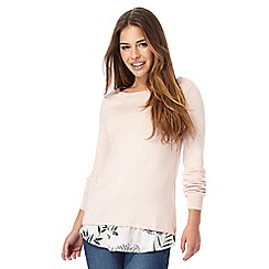 The Collection Petite - Light pink 2-in-1 petite jumper