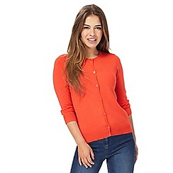 The Collection Petite - Orange crew neck petite cardigan