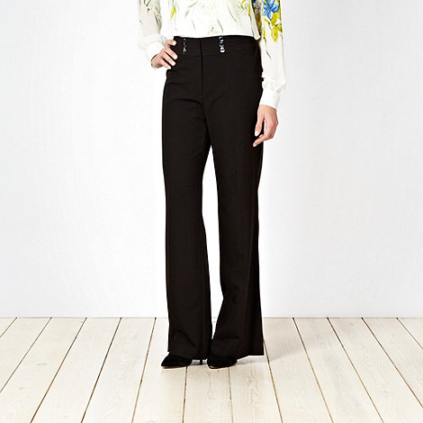 The Collection Petite - Petite black stab stitched work trousers