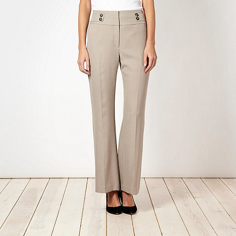 The Collection Petite - Petite taupe crosshatch suit trousers