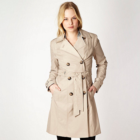The Collection Petite - Petite beige mid length mac coat