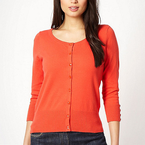 The Collection Petite - Petite orange three quarter sleeved cardigan