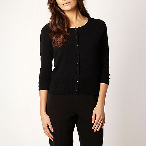 The Collection Petite - Petite black basic stretch cardigan