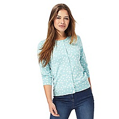 The Collection Petite - Aqua spot print petite cardigan