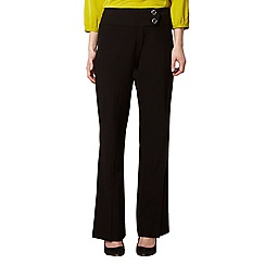 The Collection Petite - Petite black smart button tab trousers
