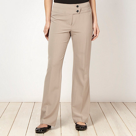 The Collection Petite - Petite taupe bootcut trousers