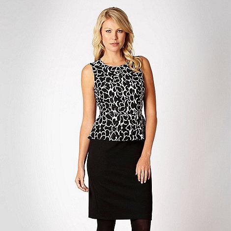 The Collection Petite - Petite black floral tie side dress - size 6P