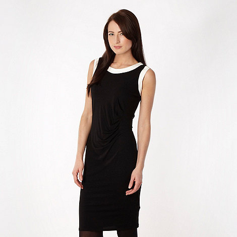 The Collection Petite - Petite black colour blocked jersey dress