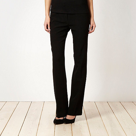 The Collection Petite - Petite black crepe slim suit trousers