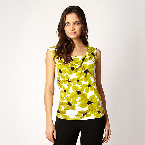 The Collection Petite - Petite lime floral cowl top