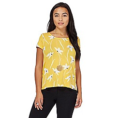 The Collection Petite - Yellow printed jersey petite top