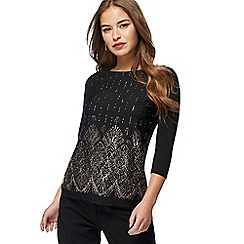 The Collection Petite - Black glitter top