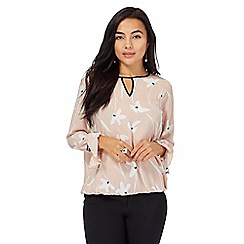 The Collection Petite - Pale pink printed petite top