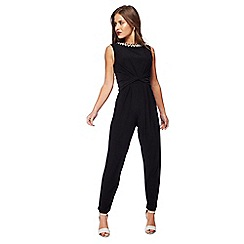 The Collection Petite - Black beaded neck petite jumpsuit
