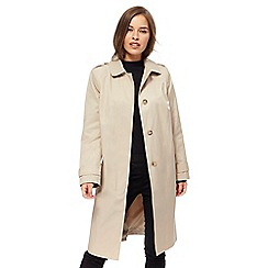 The Collection Petite - Beige single breasted petite mac coat