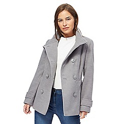 The Collection Petite - Grey petite reefer jacket