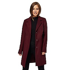 The Collection Petite - Plum smart petite city coat