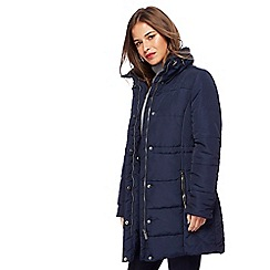 The Collection Petite - Navy padded petite jacket