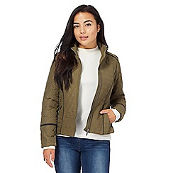 The Collection Petite - Khaki quilted jacket