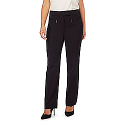 The Collection Petite - Black straight leg petite suit trousers