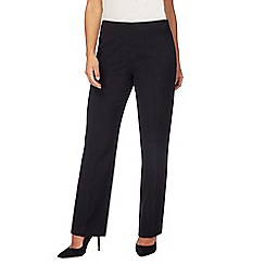 The Collection Petite - Black straight leg petite trousers
